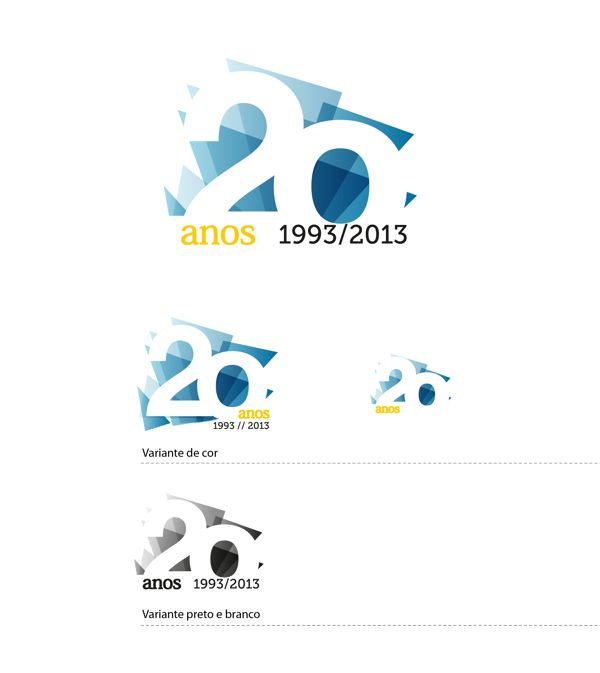 Mercer 20 years logo by Juliana Duque, via Behance