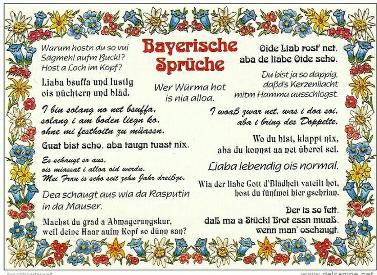 164 besten bayrisch humor bilder auf pinterest lustige spr che bayerische spr che und. Black Bedroom Furniture Sets. Home Design Ideas