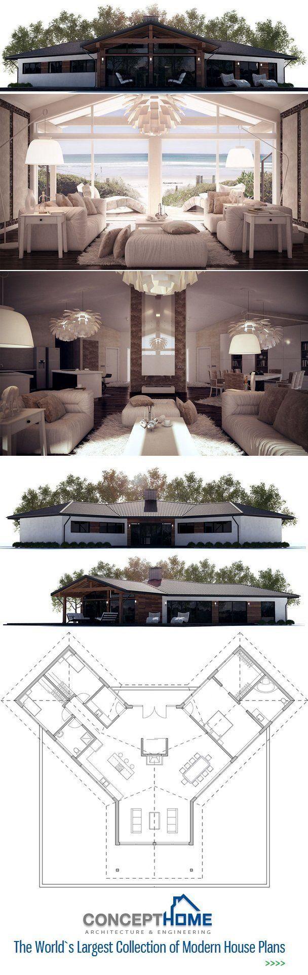 Planos de la casa. Planta de ConceptHome.com