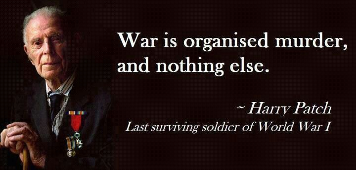 Harry Patch War Quote Quotes Pinterest Frases Celebres