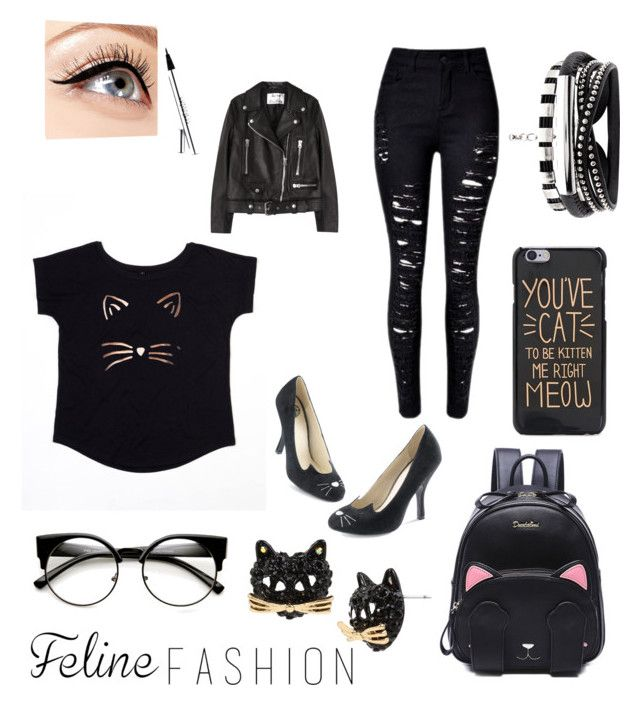 """""""Feline Fashion"""" by baby-boo-1027 ❤ liked on Polyvore featuring Betsey Johnson, Luminess Air and Acne Studios"""
