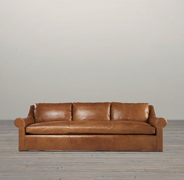 Belgian Roll Arm Leather Sofas 4300