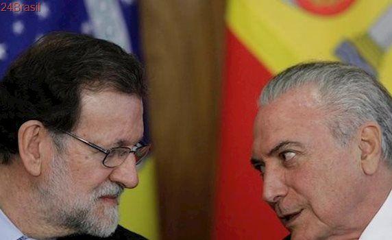 Temer defende reformas em brinde com primeiro-ministro da Espanha