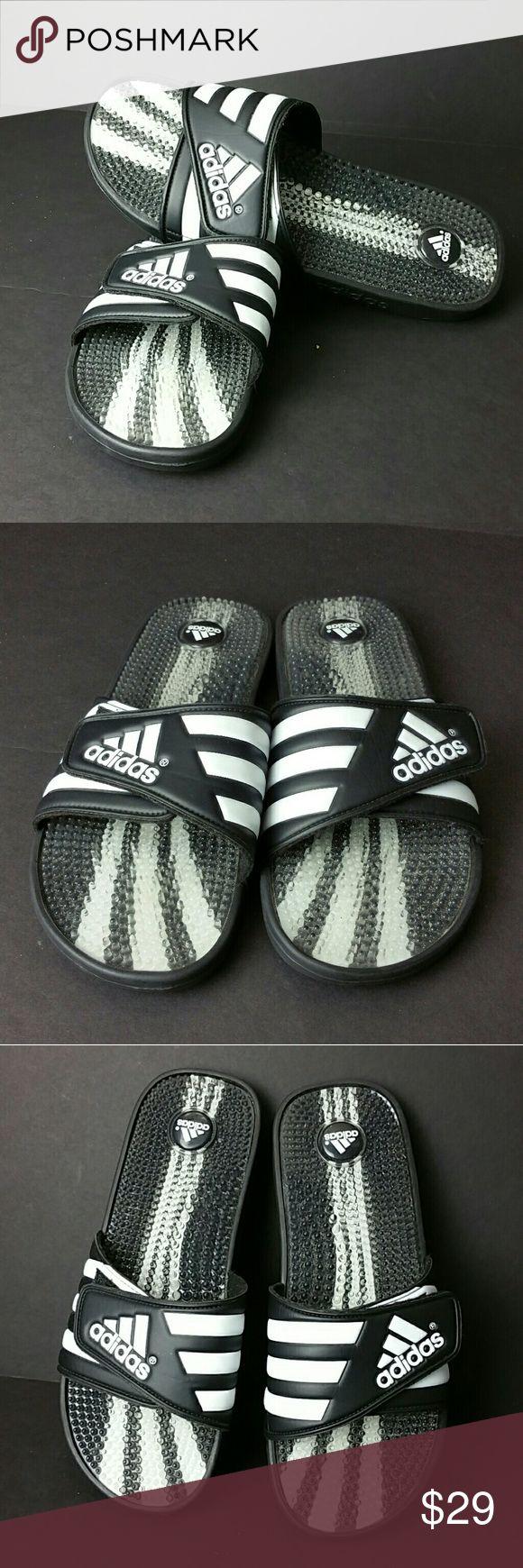 ADIDAS MEN'S SANDALS VERY CLEAN INSIDE-OUT   SKE # MC ADIDAS Shoes Sandals & Flip-Flops