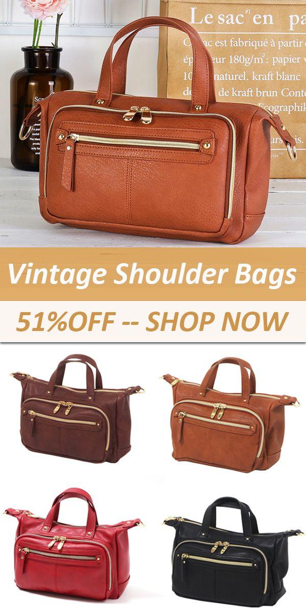 51%OFF Brenice--Vintage Multi Pockets Shoulder Bags vintage  bag  women   love 7bf342666148e