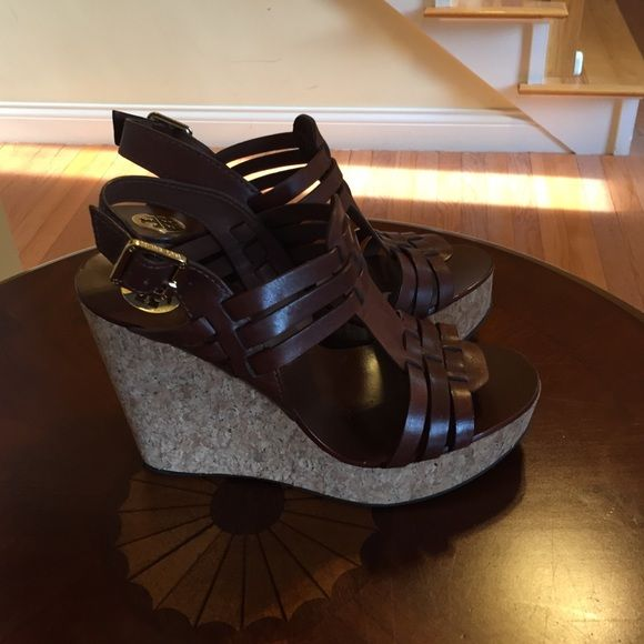 Tory Burch Shoes - Tory Burch size 8 brown wedge.