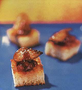 Seared Foie Gras and Lingonberry Jam on Brioche Toast Recipe  | Epicurious.com