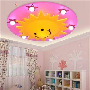LED Deckenleuchte Kinderzimmer Sonne Sterne