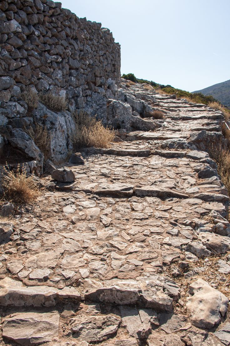 Kreta, trap-pad naar klooster