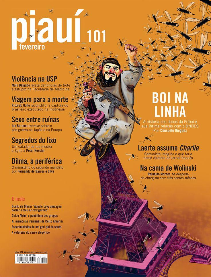 Piaui Magazine Covers - Nadia Khuzina -  San Diego, CA, USA
