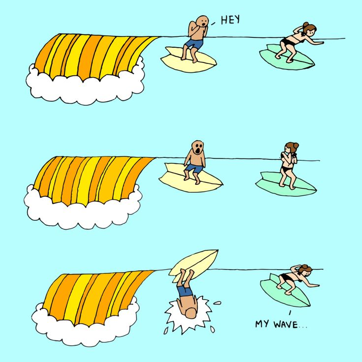 Recognise yourself in any of these surfing cartoons?