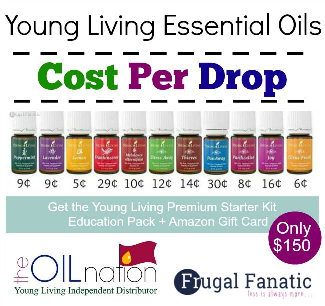 Start Saving Money: Cost Per Drop Young Living Essential Oils