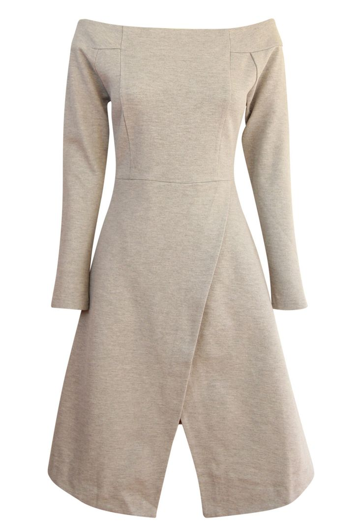 August Street - - Hold Me Hostage Dress In Grey Marle