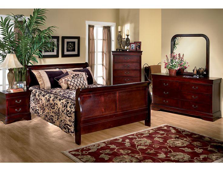 Louis Phillipe 6 Piece Queen Bedroom Package Cherry 5933bqpk6 The Brick