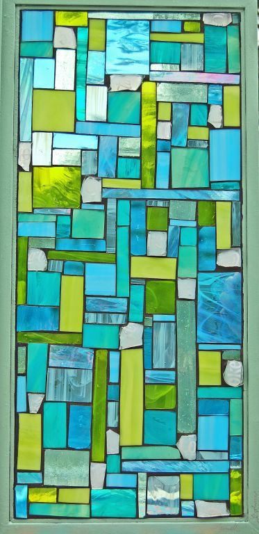 """Phizz"" stained glass mosaic window by grey dog studio - Another idea for my glass tiles and pieces."