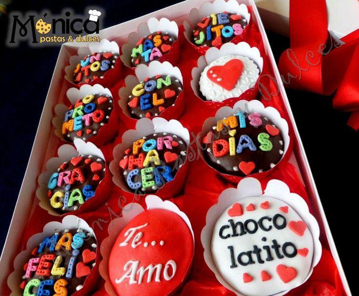 Mensajes en tus cupcakes con detalles unicos en el, visitame en Monica Pastas y Dulces.