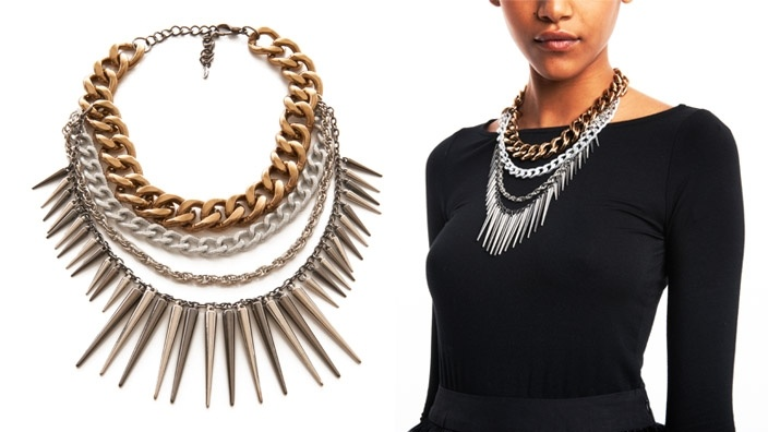 Adia Kibur Multi-Strand Spike Necklace from La La Anthony