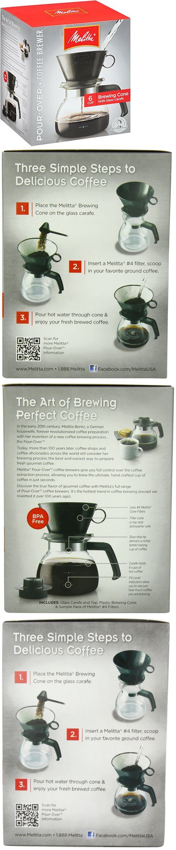 Other Coffee and Tea Makers 159902: Melitta Coffee Maker, 6 Cup Pour-Over Brewer With Glass Carafe, 1-Count -> BUY IT NOW ONLY: $54.35 on eBay!