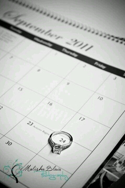 use your ring to circle the date!