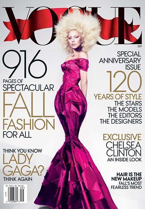 Dream Girl: Lady Gaga Graces the September 2012 Issue of Vogue