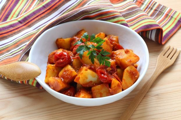 Recette - Patatas bravas au Cuisine Companion en pas à pas
