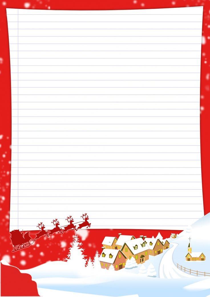 Papier à lettre Noël à imprimer soi-même