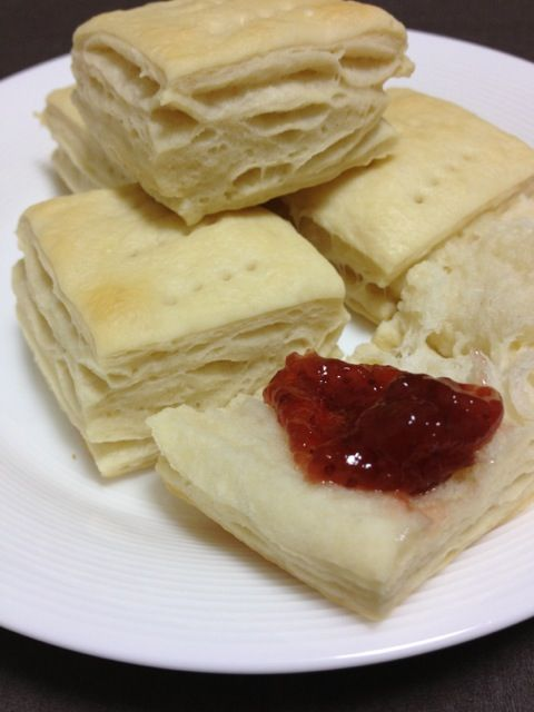 """Pan criollo"" of Argentina bread. This bread looks like a pie and scones."