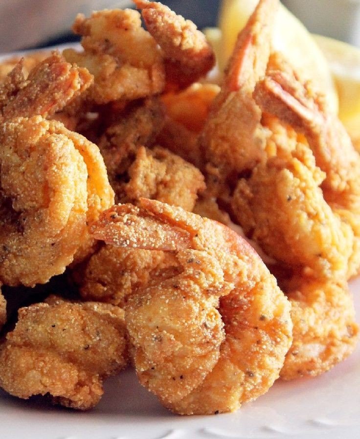 Fried Creole Shrimp!  Make a Bowl... then a Bag... then just dip the shrimp in each and fry!  So easy and amazing!!