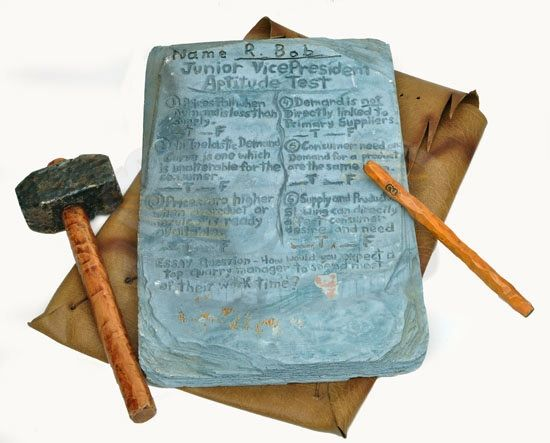 Chisel And Stone Tablet
