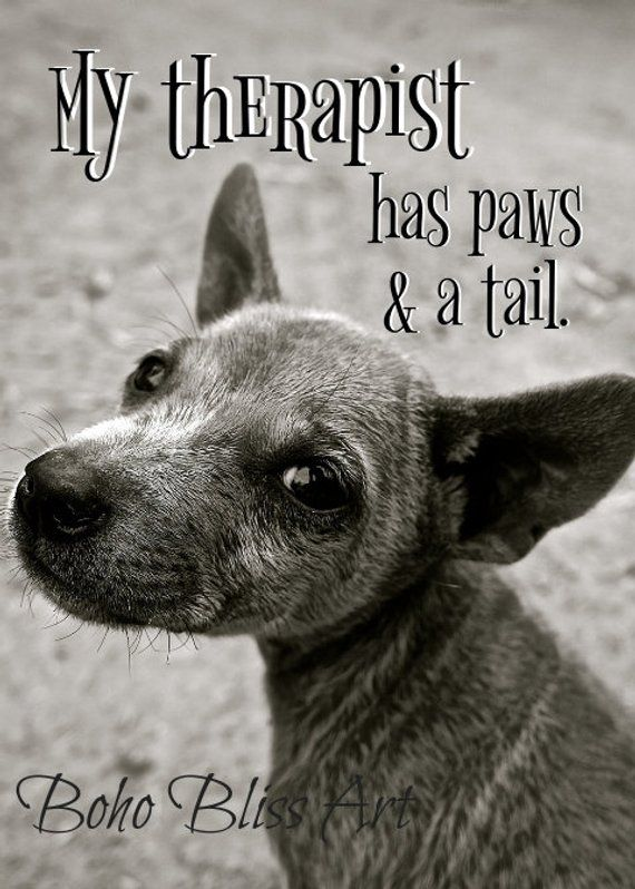 My Therapist Has Paws And A Tail Dog Quote And Art Print Digital Extraordinary Download Good Quote About Dog