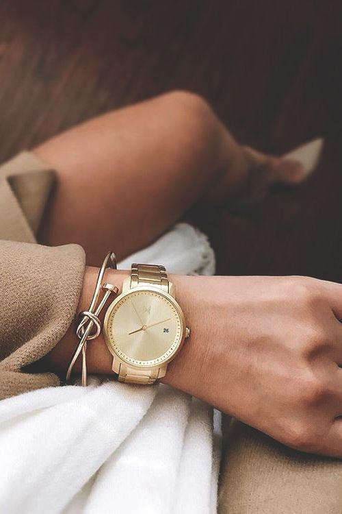 vividessentials:   Women's All Gold Watch| Buy here Define your style with MVMTWomen'sAll Gold Watch! You can also check out more models here. Amazing quality at a good price! Use the code vividessentialsto get 10% off on your order.