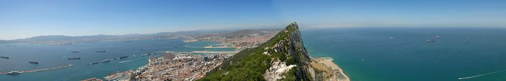 The Bay of Algeciras and La Linea, seen from the Rock ◆Gibraltar - Wikipedia http://en.wikipedia.org/wiki/Gibraltar #Gibraltar