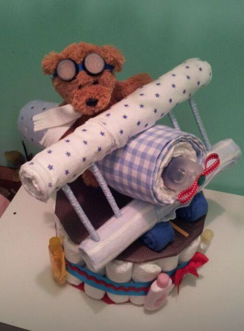 Diaper Airplane! For an air plane themed baby shower.