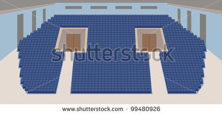 interior of cinema hall color plan vector by shooarts, via Shutterstock