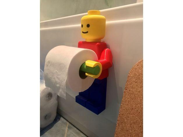 Lego Toilet Roll Holder Toilettenpapierhalterung Toilettenpapier 3d Drucker Vorlagen