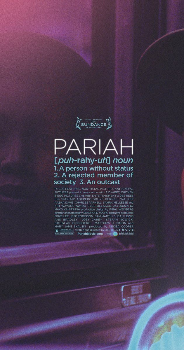 Directed by Dee Rees.  With Adepero Oduye, Kim Wayans, Aasha Davis, Pernell Walker. A Brooklyn teenager juggles conflicting identities and risks friendship, heartbreak, and family in a desperate search for sexual expression.