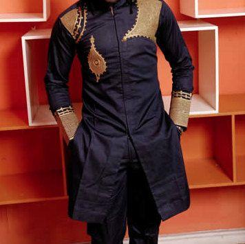 APAI traditionnel Slim Fit chemise africaine. par BournLoondonLtd