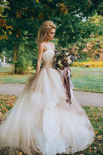 Свадьба осенью, осенняя свадьба, autumn wedding, vera wang vw351157 ombre stone