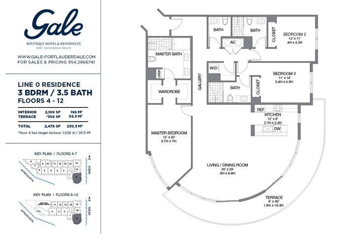 Гейл Продажи Форт - Лодердейл- Линия 0 Поэтажный План