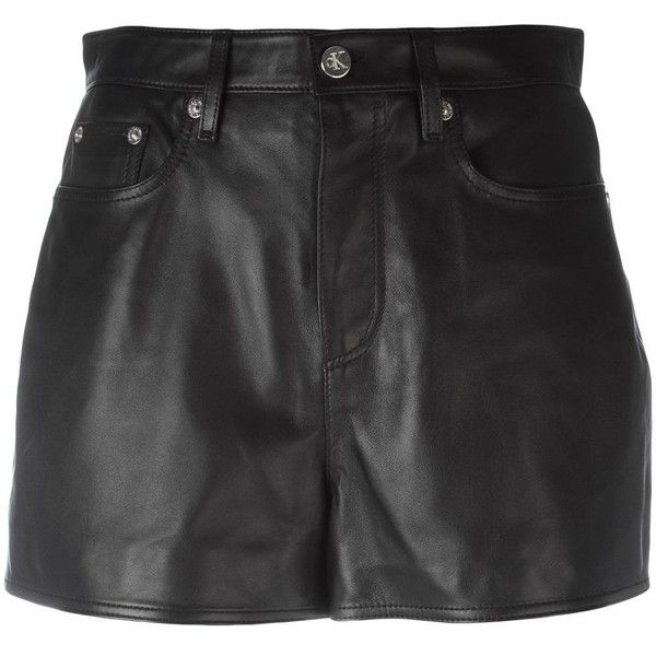Calvin Klein Jeans mini leather skirt (740 BAM) ❤ liked on Polyvore featuring skirts, mini skirts, black, calvin klein jeans, mini skirt, leather mini skirt, leather skirt and genuine leather skirt