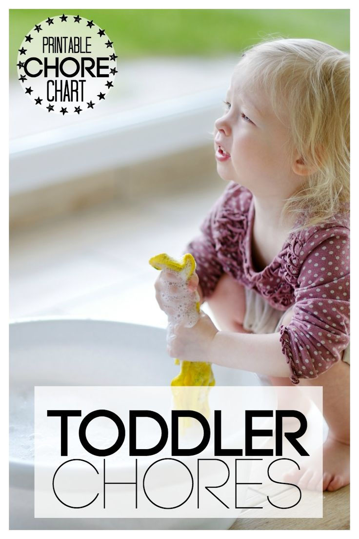 Toddler Printable Chore Chart | With free Printable of age appropriate chores for toddlers in the kitchen, playroom, rest of the house and even outside!