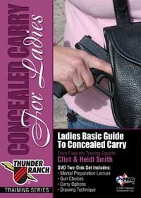 The new Concealed Carry for Ladies training course from Thunder Ranch offers a comprehensive look at concealed carry from a woman's perspective. Click here for more info: http://gunsmagazine.com/store/products/thunder-ranch-ladies-concealed-carry-dvd/