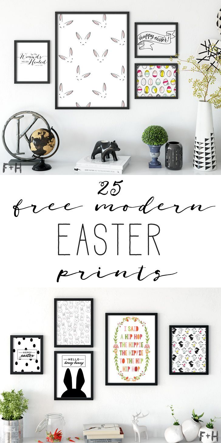 I've rounded up 25 modern Easter printables for you to fill your picture frames with. I'm a big fan of incorporating holiday decorations that doesn't detract too much from your every day home decor.