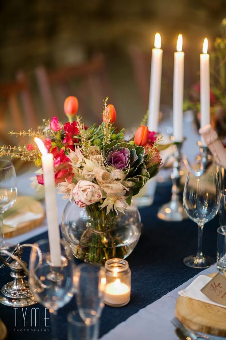 Tulips cabbage handmade flowers fynbos sweet peas soya candles and chandeliers by Eco-Chic Weddings Tyme Photography