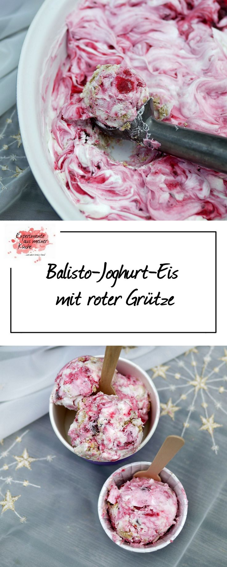 Balisto-Joghurt-Eis mit roter Grütze | Rezept