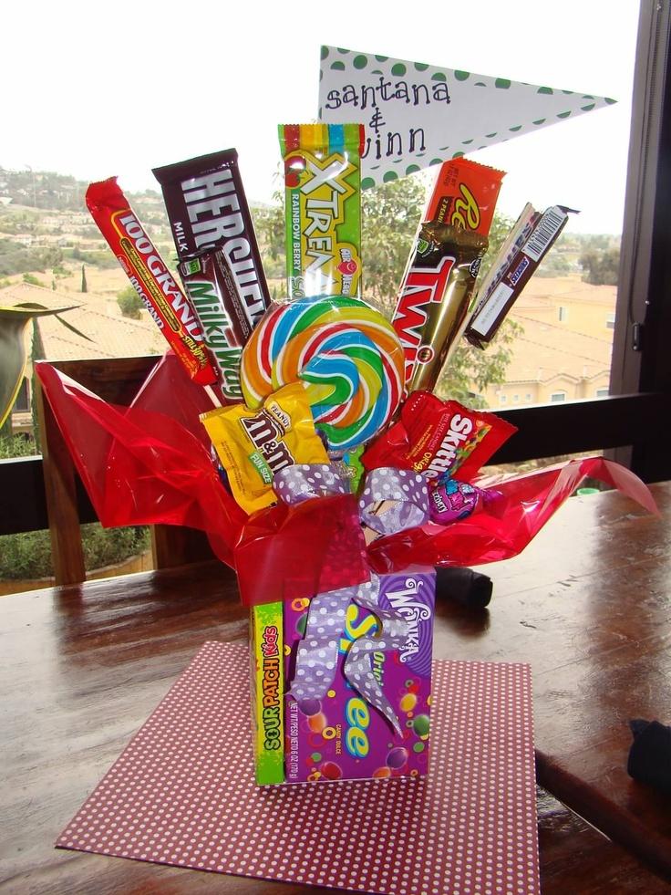 Candy Centerpieces Flower Ideas Pinterest