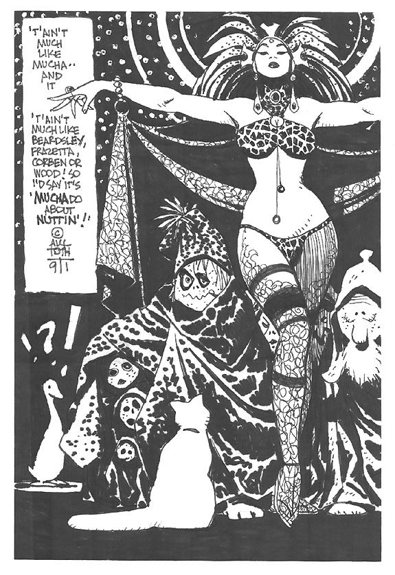 Toth specialty drawing, in Dave Morris's Specialty pieces Comic Art Gallery Room - 240464