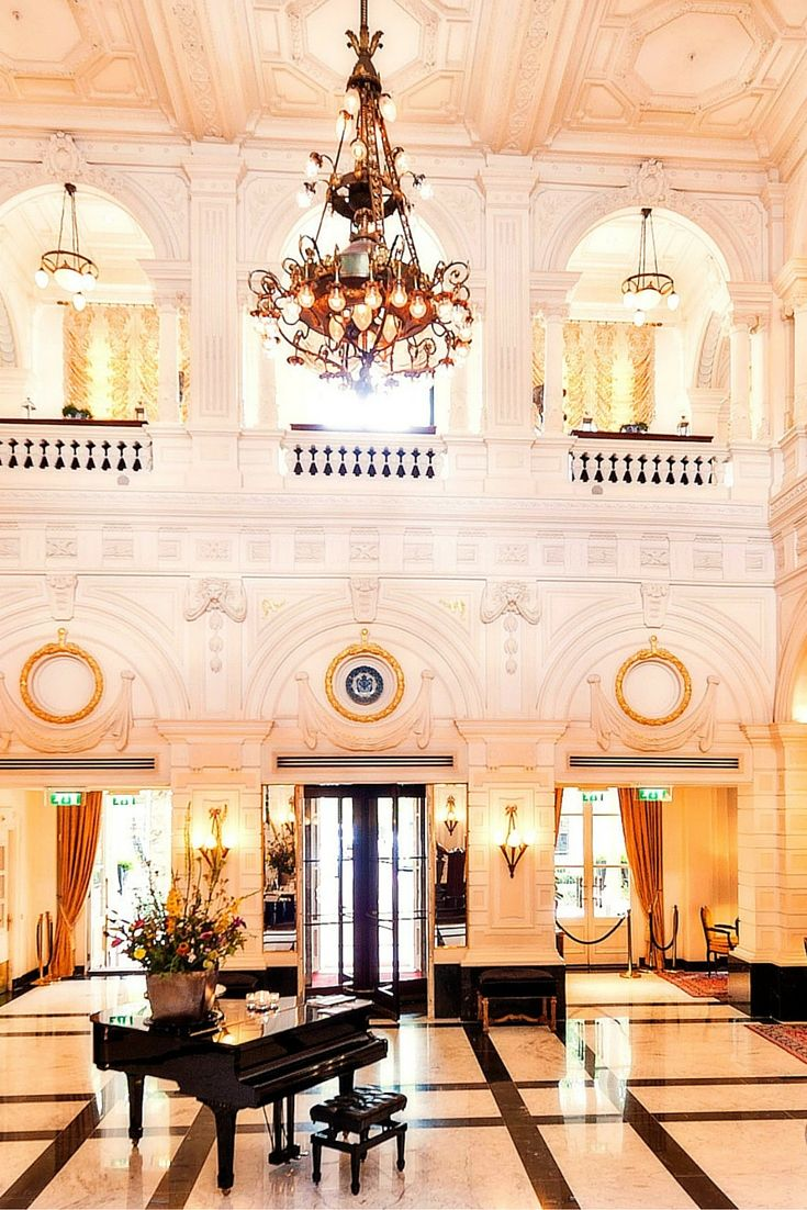 This is just the lobby. At this hotel, you get the full royal treatment along the Amstel River #Jetsetter Intercontinental Amstel Amsterdam (Amsterdam, Netherlands)