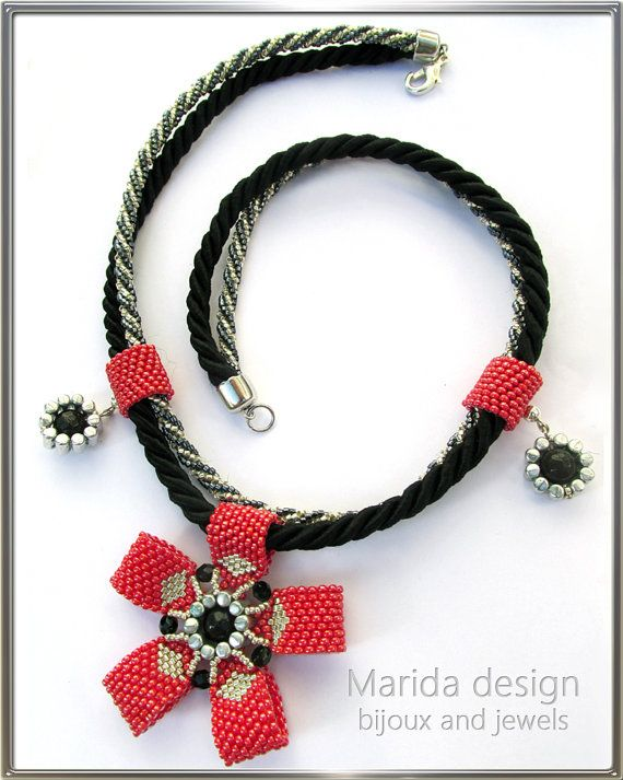 """""""Red Bow"""" necklace"""