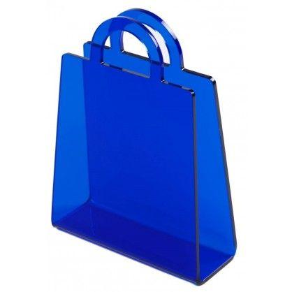Figlarny gazetnik w kształcie torebki wykonany z polikarbonu. Nada uroku każdemu wnętrzu!